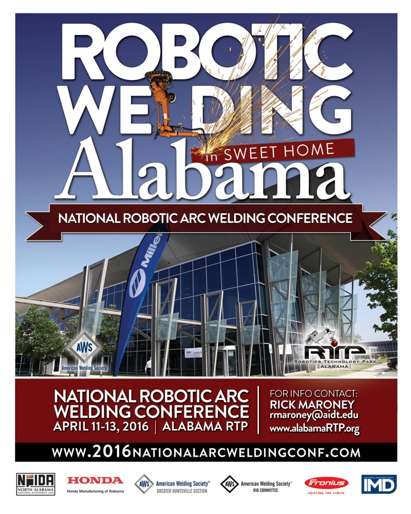 National Robotic Arc Welding Conference & Exhibition 2016